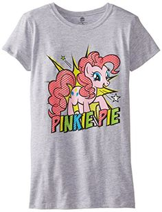 My Little Pony Big Girls MLP Pinky Pie Tee Heather Grey 12/14/Large @ niftywarehouse.com #NiftyWarehouse #MyLittlePony #Cartoon #Ponies #MyLittlePonies