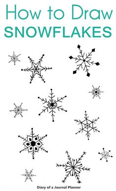 Simple step by step snow flake doodle and drawing tutorials for your Art Christmas Cards or crafts.
