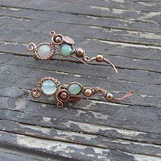 Check out this item in my Etsy shop https://www.etsy.com/listing/240572351/green-earring-green-quartz-wire-wrapped
