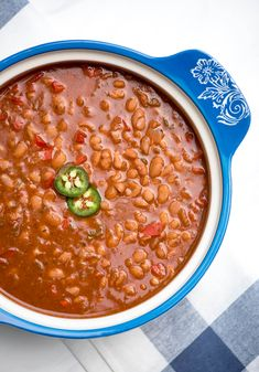 Dry pinto beans cook up perfectly tender in a deliciously seasoned sauce in about an hour! These saucy Instant Pot Mexican Pinto Beans are a fantastic side dish option for a variety of entrees.