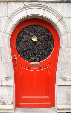 Art Nouveau Door, Antwerp, Belgium (1902) by architect Van Oenen