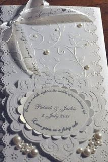 Handmade Cards: Wedding Invitations