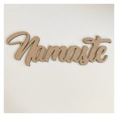 Namaste Word Wall Quote Art DIY Raw MDF Timber Wood– The Renmy Store