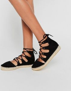 Shop for the cutest shoes like these lace up espadrilles from asos on Keep now!