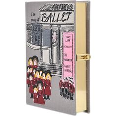 Olympia Le Tan Tales From The Ballets Book Clutch ($1,365) ❤ liked on Polyvore featuring bags, handbags, clutches, multicoloured, colorful purses, embroidered purses, multicolor handbags, multi color purse and olympia le-tan