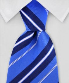Blue Striped Necktie Gentlemanjoe.com Affordable Luxury ties and Fashion Accessories for men and women