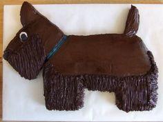 Scottish Terrier Cake