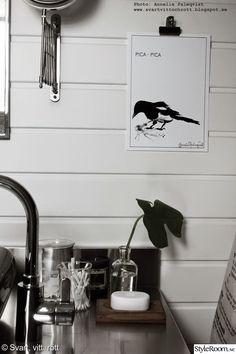 badrum,svart och vitt,poster,konsttryck,skata