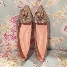 Luiza barcelos BNWOT Brand new, never worn, no tags. Pointed flat with tassels Luiza Barcelos Shoes Flats & Loafers