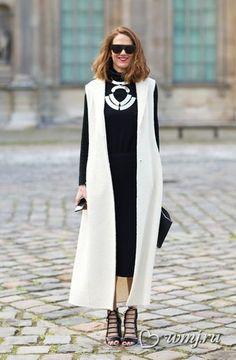 Удлиненный жилет: как и с чем носить | www.wmj.ru