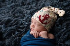 the original anchor hat by KNOTS. anchor shown in deep red.  www.KNOTSLLC.etsy.com