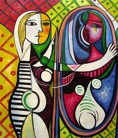 Pablo Picasso ·mujer en el espejo