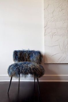 fur covered chair - perfect