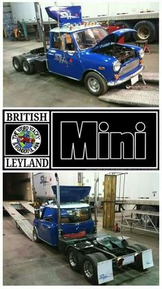 Mini Truck for Big Rig Trucks, Mini Trucks, Cool Trucks, Cool Cars, Mini Cooper Classic, Classic Mini, Mini Clubman, Mini Coopers, Custom Trucks