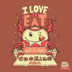 Amo comer pero odio cocinar #mostropi #monster #character #draw #illustration #monday