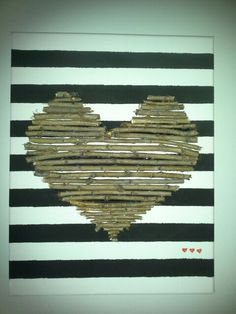 Cadres avec coeur de branches Deco, Branches, Texture, Wood, Crafts, Canvas, Frames, Surface Finish, Manualidades