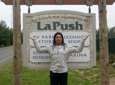 I think Gil Birmingham appreciates and enjoys being a part of the Twilight Saga more than any other cast member --- Here is in front of the La Push city limits sign.