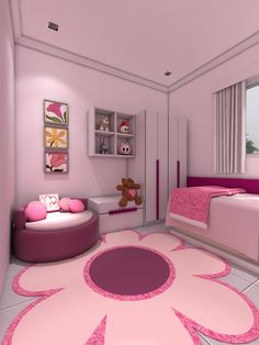 27+ Beautiful Girls Bedroom Ideas for Small Rooms (Teenage Bedroom Ideas), Teenage and Girls Bedroom Ideas for Small Rooms, Pink Colors, Girls Room Paint Ideas with Beds Wall Art