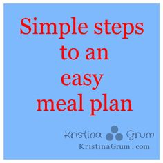 Meal planning made simple and easy!