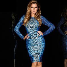Kardashian Kollection Cobalt Python Dress worn by Kloe..available now $99.95 FREE SHIPPING www.facebook.com/evildivafashion #kardashiankollection #itsallaboutyou
