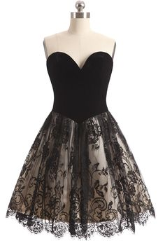 Strapless Sleeveless Lace Short A-line Dress for Sweet 16,2016 Fall Homecoming Dresses Black for Juniors