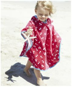 View details of Mothercare Soft Poncho- Cherries