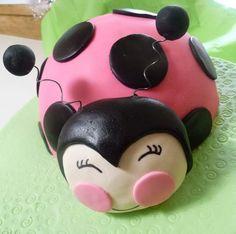 Pink Ladybug cake