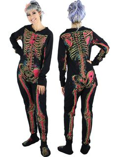 Electric Skeleton Footie Pajamas | PLASTICLAND