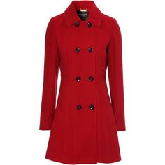 Jane Norman Fit and flare coat found on Polyvore
