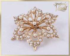 Genuine Antique ~ Art Nouveau ~ Seed Pearl Six Point Star Brooch / Pendant ~ 14k Yellow Gold ~ 67 Genuine Seed Pearls ~ STR15064 by StratfordVault on Etsy Art Nouveau, Point, Brooch, Jewels, Etsy, Trending Outfits, Antiques, Unique Jewelry, Handmade Gifts