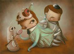 Pop surrealism, surrealism, lowbrow art, new contemporary art: Interview with pop surreal artist Kathie Olivas
