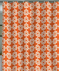 Take A Look At This Orange Moroccan Mirage Khristian Howell Shower Curtain By DENY Designs