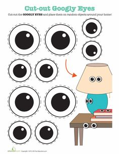 Printable Googly Eyes In the spirit of April Fools' Day, or just in the spirit of silliness, use these cut-outs for some good old fashioned googly eye bombing! Eyes Clipart, Googly Eye Crafts, April Fools Day Jokes, Art For Kids, Crafts For Kids, Third Grade Art, Craft Eyes, Printable Crafts, Free Printables