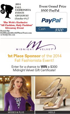 Win a Dress, Shoes, and Handbag in the Fall Fashionista Giveaway Hop ~ Planet Weidknecht
