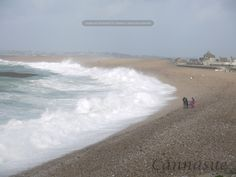 Chesil beach on a rough day.