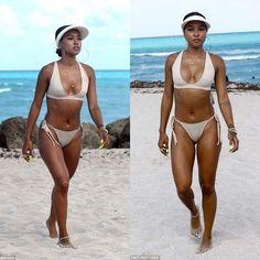 "771 Likes, 7 Comments - Azarialamode (@azarialamode) on Instagram: ""Check out our favorite Bikini babe @karrueche wearing @myraswim while hitting the beach in Miami on…"""