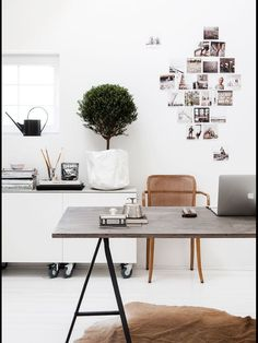 Get the home office design you've ever wanted with these home office design ideas! Feel inspired by the unique ways you can transform your home office! Workspace Design, Office Workspace, Home Office Design, Home Office Decor, House Design, Home Decor, Office Ideas, Office Inspo, Office Style