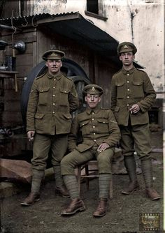 From WW1 and the Lost Tommies collection of photo's, if you can identify any of the soldiers please let us know and the information will be passed on.