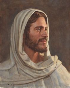 The Lord Jesus Christ. Our Heavenly Father sent His Son, Jesus Christ, to be our Savior and show us the way to true happiness by living. Paintings Of Christ, Jesus Christ Painting, Jesus Artwork, Pictures Of Jesus Christ, Jesus Christ Images, Jesus Christ Lds, Jesus Drawings, Christian Artwork, Jesus Face