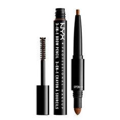 Nyx Sourcils 3 In 1 Brow Color Makeup Definition Pencil,Powder,Mascara Eyebrow Tools, Best Eyebrow Pencils, Eyebrow Makeup, Eyebrow Game, Makeup Geek, Makeup Art, Makeup Ideas, Makeup Tips, Brow Mascara