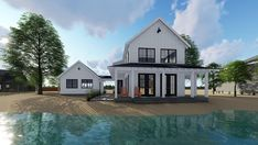 Country Farmhouse Traditional House Plan 44180 Rear Elevation
