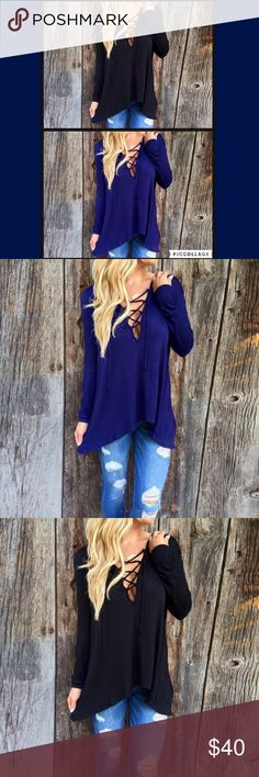 "Limited Sizes Left! Lace Up Long Sleeve Hoodie Top {NEW} {5⭐️} V Neck Lace Up Long Sleeve Top Material Cotton & Polyester Size Small Bust 36-38"" Length 30"" Medium Bust 37-40"" Length 30"" Large Bust 41-43"" Length 32"" GlamVault Tops Tees - Long Sleeve"