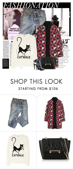 """Sem título #2649"" by sribeiro ❤ liked on Polyvore featuring Gucci, A.P.C., Étoile Isabel Marant, Moschino Cheap & Chic, Diane Von Furstenberg and GUESS"