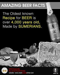Amazing #Beer Facts Drink #Responsibly  Be a Smart #Alcohol #Drinker  http://smartalcoholdrinker.com/