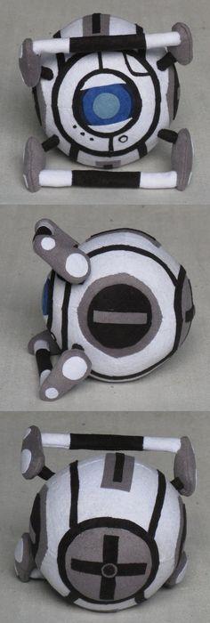 Wheatley Portal 2 plush by SmellenJR