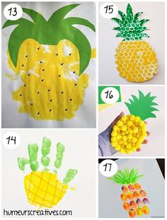 Find more special crafts ideas was to occupy children during the holidays. Suns, strawberries, cactus or ice, enough to go from cool creative moments. Decoration Hawai, Crafts To Do, Crafts For Kids, Exotic Fruit, Summer Crafts, Projects For Kids, Science Nature, Cactus, Seasons