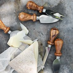 Olive Wood Cheese Knives