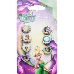 She'll love to accessorise a different way every day of the week with the Disney Fairies 7 Day Ring Set. This fun set includes a collection of rings in different shapes and sizes, with a picture of her favourite magical fairies inside each face.