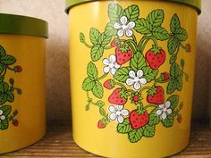 Strawberry Canisters - Set of 4