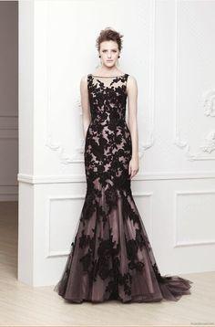 The Oriel by Enzoani - black lace wedding gown. Black Wedding Gowns, Lace Wedding Dress, Lace Dress, Dress Up, Gothic Wedding, Black Gowns, Gown Dress, Tulle Wedding, Black Weddings